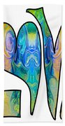 Loving Life Abstract Inspirational Artwork By Omaste Witkowski  Beach Towel