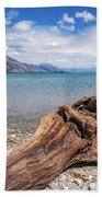 Low Angle View From The Rocky Dart River Bank At Kinloch, Nz Beach Towel