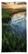 Low Country Sunset Beach Towel