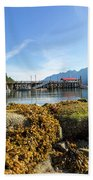 Low Tide At Horseshoe Bay Canada On A Sunny Day Beach Towel