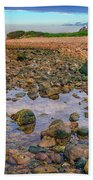 Low Tide At Montauk Point Beach Towel