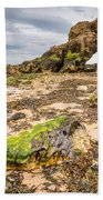 Low Tide At Saddle Rocks Beach Towel