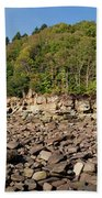 Low Tide Panorama Beach Towel
