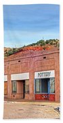 Lowell Arizona Pottery Building Old Police Car Beach Towel