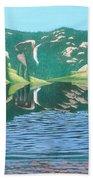 Lower Cataract Lake And Cataract Creek Falls Beach Towel