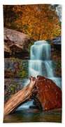 Lower Falls At Kaaterskill Beach Towel