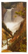 Lower Falls From Artists Viewpoint Beach Towel