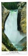 Lower Falls Beach Towel