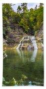 Lower Falls Of Enfield Glen Robert H. Treman State Park Beach Towel
