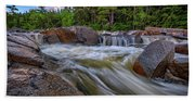 Lower Falls Of The Swift River Beach Towel