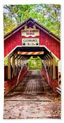Lower Humbert Covered Bridge 5 Beach Towel