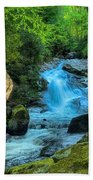 Lower Lynn Camp Falls Smoky Mountains Beach Towel