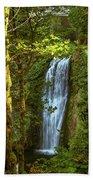 Lower Multanomah Falls, Oregon Beach Towel