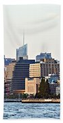 Lower West Side On The Waterfront Beach Towel