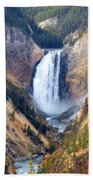 Lower Yellowstone Falls Beach Towel