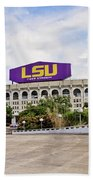 Lsu Tiger Stadium Beach Towel
