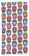 Lucha Libre Masks Beach Towel