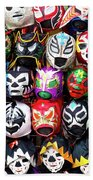 Lucha Libre Wrestling Masks Beach Sheet