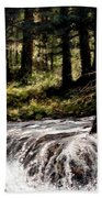 Lucia Falls In July Beach Towel
