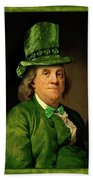 Lucky Ben Franklin In Green Beach Towel