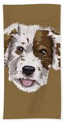 Lucky Brown Mixed Breed Beach Towel