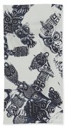 Lucky Charms Of Wise Old Owls Beach Sheet