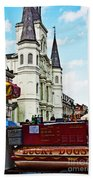 Lucky Dogs And St. Louis Cathedral Beach Towel