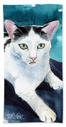Lucky Elvis - Cat Portrait Beach Towel