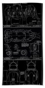 Lucy The Elephant Building Patent Blueprint 3 Beach Towel