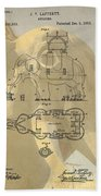 Lucy The Elephant Building Patent Beach Towel