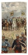 Ludwig Koch, Franz Josef I And Wilhelm II With Military Commanders During Wwi Beach Towel
