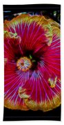 Luminous Bloom Beach Towel