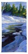Luminous Snow Beach Towel