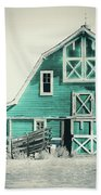 Luna Barn Teal Beach Towel