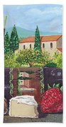 Lunch In Provence Beach Towel