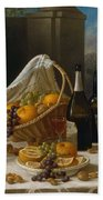 Luncheon Still Life, At And By John F. Francis Beach Towel