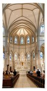 Lunchtime Mass At Saint Paul Cathedral Pittsburgh Pa Beach Towel