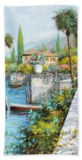 Lungolago Beach Towel by Guido Borelli