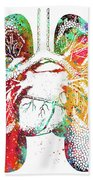 Lungs And Heart Beach Towel