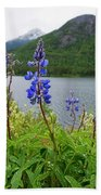 Lupines And Water Beach Towel