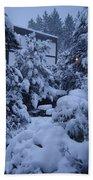 Luscious Snowfall Beach Towel