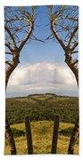 Lush Land Leafless Trees IIi Beach Sheet