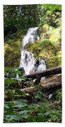 Lush Waterfall Beach Towel