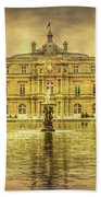 Luxembourg Palace Paris Beach Towel