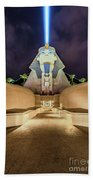 Luxor Casino Egyptian Sphinx Las Vegas Night Beach Towel
