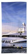 Luxury Yachts Beach Towel by Elena Elisseeva