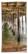 Lynnhaven Fishing Pier, Pillars To The Sea Beach Towel