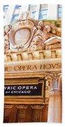 Lyric Opera Of Chicago Beach Towel