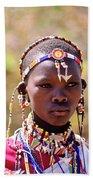 Maasai Beauty Beach Towel