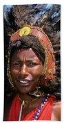 Maasai Warrior Beach Towel